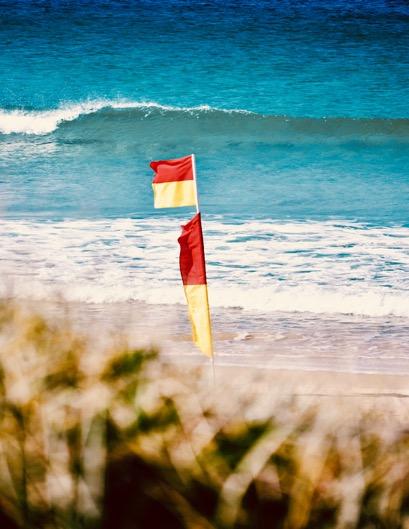 Flag on a beach